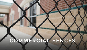 Commercial fence installation in VA