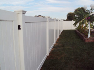 Installed vinyl fence by Fence & Deck Depot Inc.  in Missouri