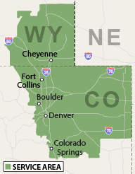 Our Colorado and Wyoming Service Area