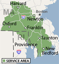 Our Massachusetts and Rhode Island Service Area
