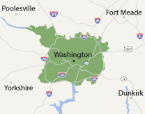 Our District of Columbia, Maryland, and Virginia Service Area