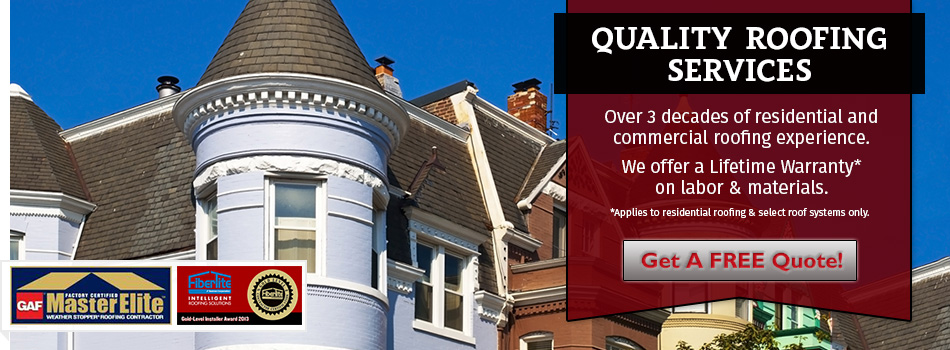 We are the District of Columbia, Maryland, and Virginia Roofing Experts!