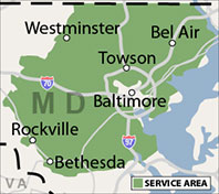 Our Maryland Service Area