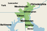 Our Delaware, Pennsylvania, and Maryland Service Area