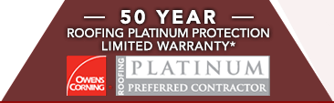 Home Pro Roofing & Remodeling is an Owens Corning Roofing Platinum Preferred Contractor