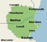 Our New Hampshire & Massachusetts Service Area