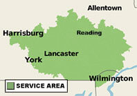 Our Pennsylvania and Delaware Service Area