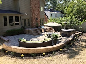 Paver patio in Missouri and Illinois