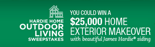 Contract Exteriors James Hardie Sweepstakes