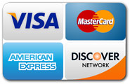 We also accept all major credit cards
