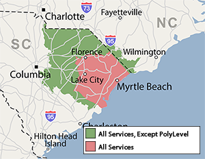 Our South and North Carolina Service Area