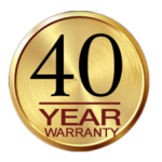 40 Year Workmanship Warranty