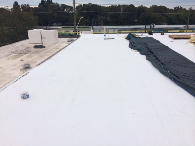 Commercial flat roofing in Tampa