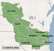 Our Wisconsin & Illinois Service Area