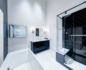 Remodeled bathroom in Chicago