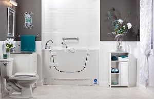 Accessible walk-in bathtub
