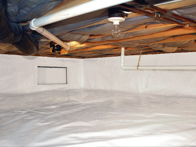 CleanSpace crawl space vapor barrier and insulation in Philadelphia, Philadelphia County.