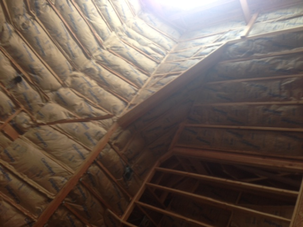 Cathedral Ceiling, Fiberglass Insulation