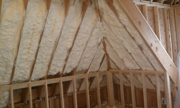Roof line of Westminster School in Simsbury Connecticut CT - Icynene Open Cell Spray Foam Insulation LDC50 - Coastal Insulation Corp.