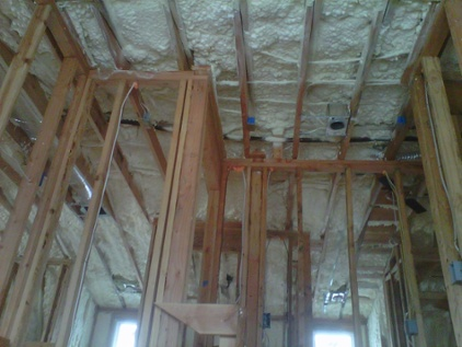 new construction spray foam