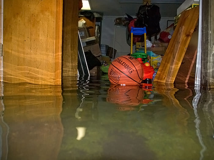 Flooded basement in a Tonawanda home.