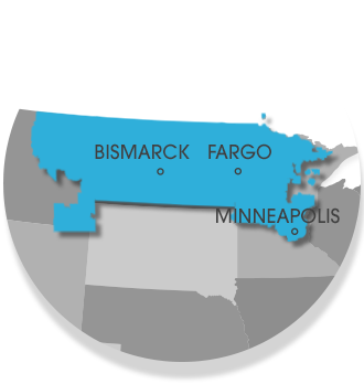 Our North Dakota and Minnesota Service Area