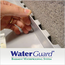 WaterGuard® can be installed in basements with a poured footing
