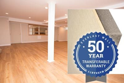Our basement wall panel system comes with a 50-year warranty.