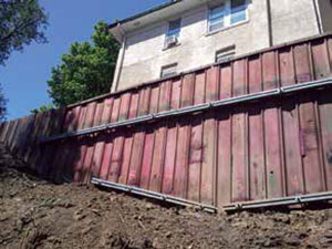 Helical tiebacks stabilize