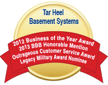 Tar Heel Basement Systems awarded 2012 and 2013 BBB Awards