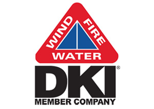 disaster kleenup international's fire, water, and wind disaster restoration logo
