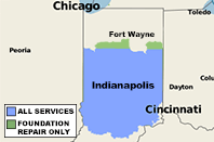 Our Indiana Service Area