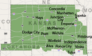 Our Western & Central Kansas Service Area