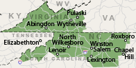 Our North Carolina and Virginia Service Area