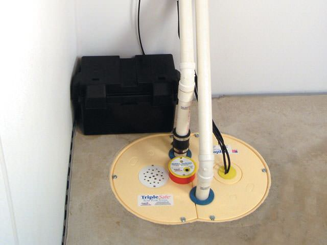 Sump pump installed in a home in Richmond Hill, ON
