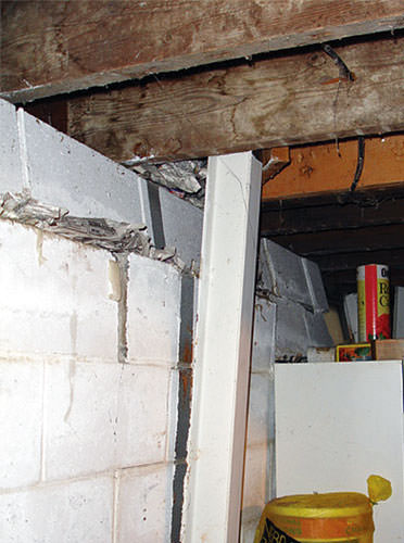 Tilting basement wall in need of repair in Richmond Hill, ON