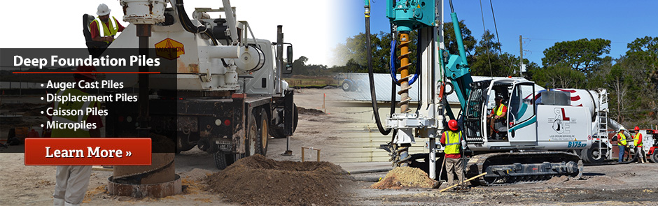 Deep Foundation Solutions & Certified Auger Cast Pile DOT Contractor in All of Florida