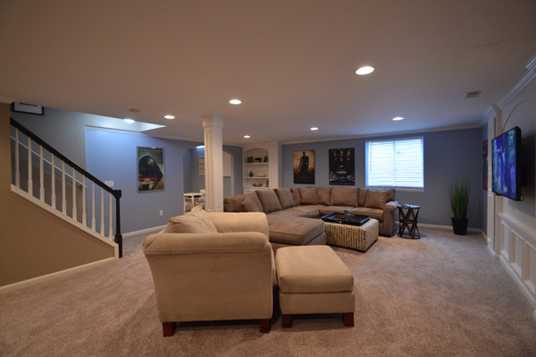 Design ideas for basement finishing remodeling in novi for Finished basement designs
