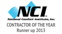 Kennihan's Dr. Energy Saver is NCI - Contractor of the Year - Runner up 2013