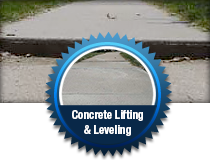 Concrete lifting and leveling services