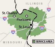 Our Missouri and Illinois Service Area