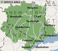 Our New York, New Jersey, Pennsylvania and Connecticut Service Area