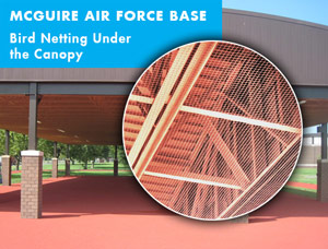 McGuire Air Force Base Bird Netting Under the Canopy