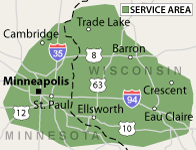 Our Wisconsin and Minnesota Service Area