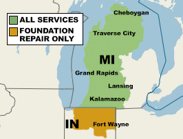 Our Service Area in Michigan and Indiana.