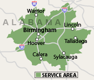 Our Alabama Service Area