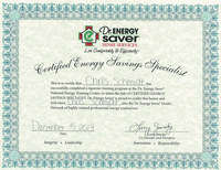 Certified Energy Savings Specialist