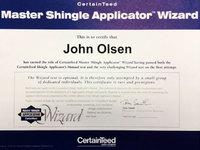CertainTeed Master Shingle Applicator Wizard